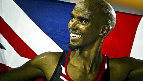 Mo Farah voitti 5000 metrin MM-kultaa.