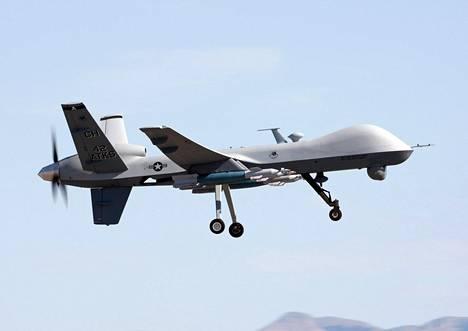 Yhdysvalloissa rajaa valvotaan jykevillä MQ9 Reaper -lennokeilla.