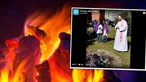 Puolalainen pappiryhmä kärräsi kirjoja nuotiolle ja julkaisi polttoprojektista kuvasarjan Facebookissa. Vastaanotto ei ollut iloinen.