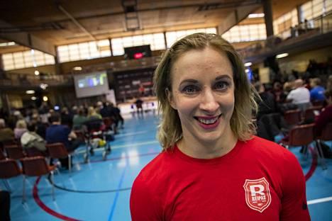 Anni Vuohijoki toimi Porissa tällä kertaa huoltajana.