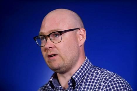 Perussuomalaisten puoluesihteeri Simo Grönroos.