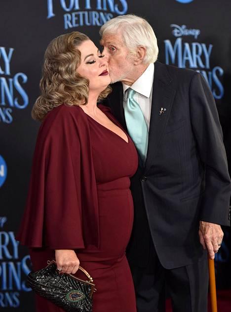 Dick Van Dyke ja Arlene Silver kuvattuna vuonna 2018 Hollywoodissa.