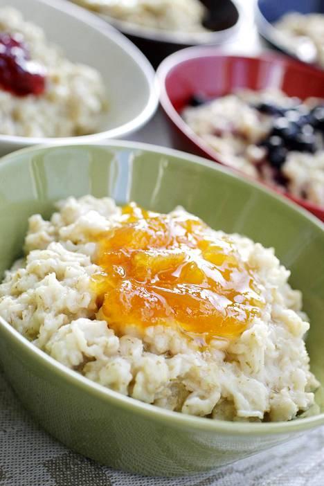 Puuro on erinomaisen hyvä aamupala silloin, kun mukaan lisää jotain proteiinia.