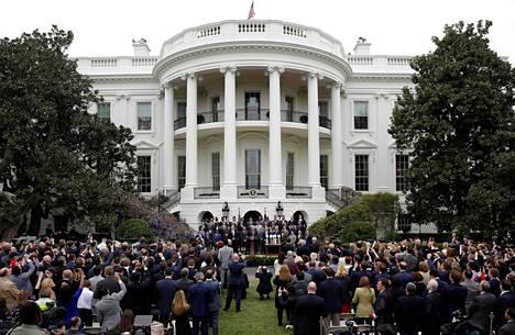 Donald Trump järjesti perinteisen kutsutilaisuuden Super Bowlin mestarijoukkueelle New England Patriotsille viime viikolla Valkoisessa talossa.