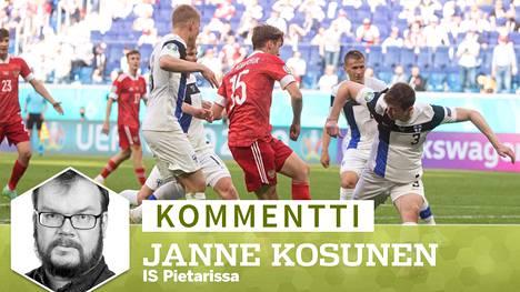 Aleksei Mirantshuk (15) laukoi Venäjän 1–0-voittoon Suomea vastaan.