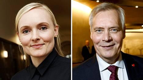 Maria Ohisalo ja Antti Rinne.
