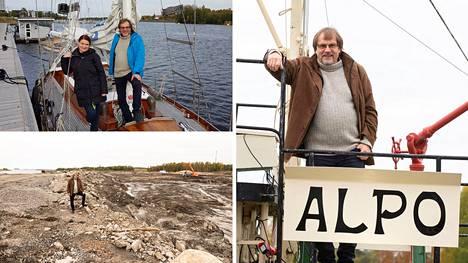 Martti Haapalan tavoitteena on tuoda Oulun merellisyyttä aiempaa enemmän näkyviin. Hän on mukana uudessa satamahankkeessa, Villa Hannalan kehittämisessä sekä hinaaja Alpon toiminnassa. Kuvassa myös Meri Haapala.