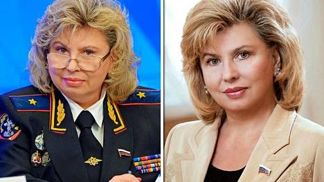 Tatjana Moskalkova eteni Venäjän sisäministeriössä kenraalimajuriksi ennen kansanedustajan uraansa. Hänen mukaan Venäjällä ei ole poliittisia vankeja, vaikka venäläinen ihmisoikeusjärjestö Memorial on laskenut heitä olevan ainakin 86.