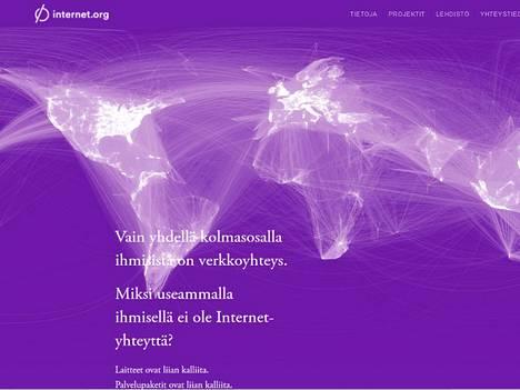Internet.orgilla on myös suomenkieliset sivut.