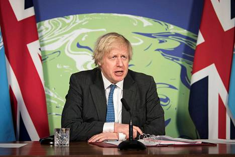 YK:n turvallisuusneuvostossa puhetta johtanut Ison-Britannian pääministeri Boris Johnson, korosti ilmastoasioiden merkitystä.