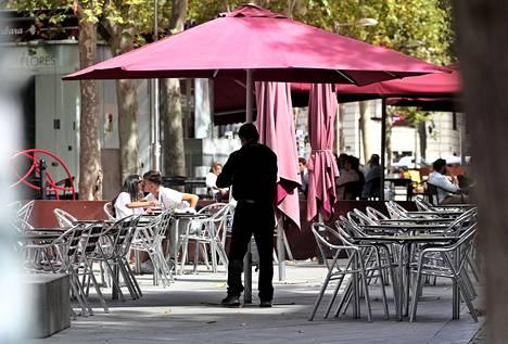 Madridin terassit olivat auki 7. syyskuuta.