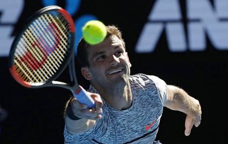 Grigor Dimitrovin turnaus jatkuu perjantaina.