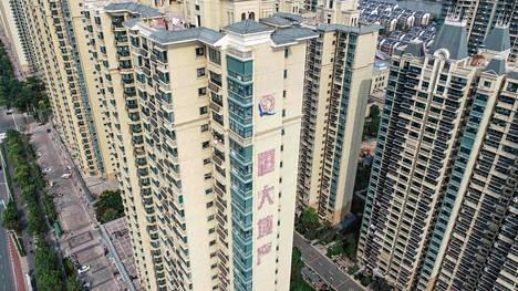 Evergranden asuntokiinteistöjä Huaianissa Jiangsun maakunnassa.