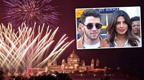 Nick Jonasin ja Priyanka Chopran häät järjestettiin Jodhpurissa, Intiassa 1. joulukuuta 2018.