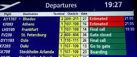 Lentojen myöhästelyä ei ole pakko katsoa sormien läpi.