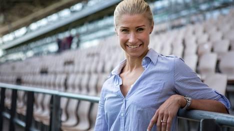 Ex-huippu-uimari Hanna-Maria Seppälä on urheilu-uransa jälkeen ollut monessa mukana. Kuva vuodelta 2017.