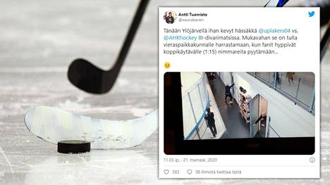 Ulosajon III-divisioonan ottelussa saanut pelaaja sai peräänsä katsojan Ylöjärvellä.