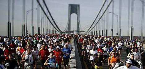 New Yorkin maratonille osallistui yhteensä yli 38 000 ihmistä.