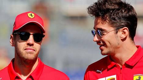Ferrarin tähtikaksikko Sebastian Vettel ja Charles Leclerc pääsivät testiajoihin juhannusviikolla.