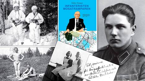 Kuvat ovat Valter Nymanin kirjasta Infanteristen – mosatramparen. Dagböckerna från fortsättningskriget 1941–1944.