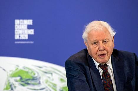 David Attenborough on yksi maailman tunnetuimpia ilmaston puolesta puhuvia ihmisiä. Kuva helmikuulta 2020.