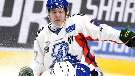 Janne Seppänen pelasi LeKin paidassa vuonna 2017.