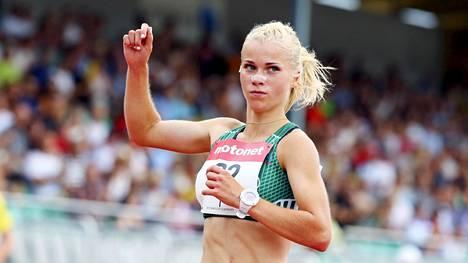 Alisa Vainio juoksi voittoon Jyväskylän Kalevan kisoissa.