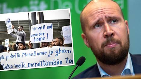Vihreiden puheenjohtaja Touko Aalto on vaatinut muun muassa tilapäisen oleskeluluvan palauttamista vaihtoehdoksi kielteisen turvapaikkapäätöksen saaneiden palautuksille.