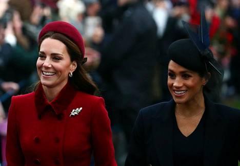 Catherine ja Meghan olivat hyvällä tuulella.