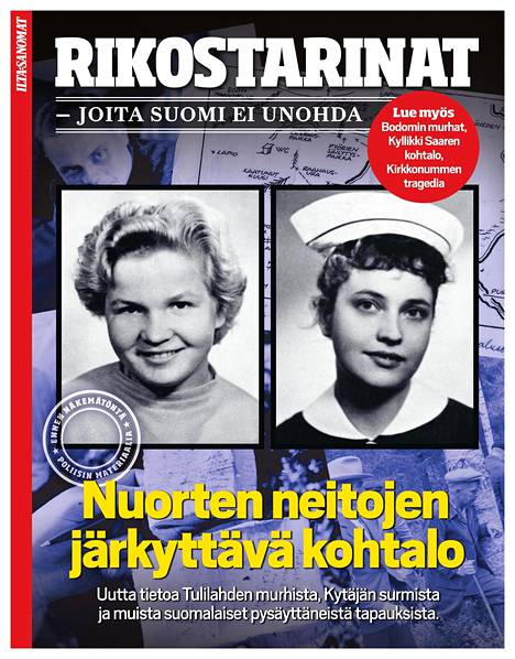 Lisää Suomen rikoshistoriasta voit lukea Ilta-Sanomien erikoisjulkaisusta Rikostarinat, joita Suomi ei unohda.