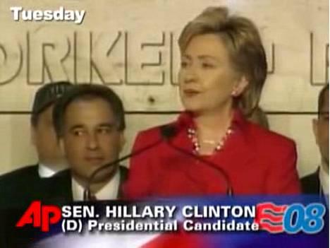 Hillary Clinton vertasi itseään Sylvester Stallonen esittämään nyrkkeilijä Rocky Balboaan.