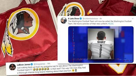Washington Redskins ei jatkossa enää ole Redskins, vaan toistaiseksi Washington Football Team.
