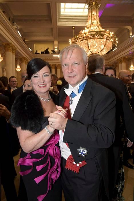 Olli Rehn ja puoliso Merje Rehn.