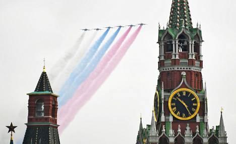 Moskovassa on jo harjoiteltu Punaisen torin ylilentoa varten toukokuun 9. päivän voitonpäivää varten. Koronavirus sotki Vladimir Putinin suunnitelmat mahtipontisesta sotilasparaatista puna-armeijan voiton kunniaksi.