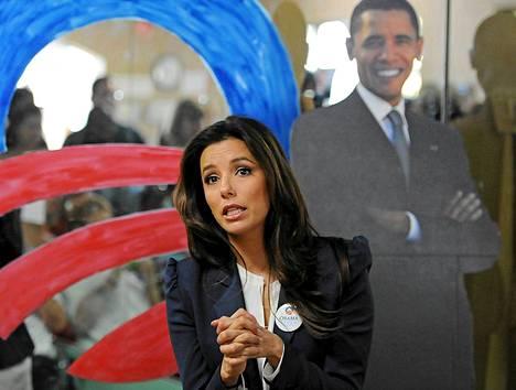 Eva Longoria on kampanjoinut näkyvästi Barack Obaman puolesta.