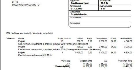 Kulmuni sai sparrausta Tekiriltä myös 3. joulukuuta, jolloin Antti Rinne erosi pääministerin paikalta.