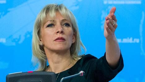Venäjän ulkoministeriön julkisuuskuvasta ja tiedottamisesta vastaa Marija Zaharova.