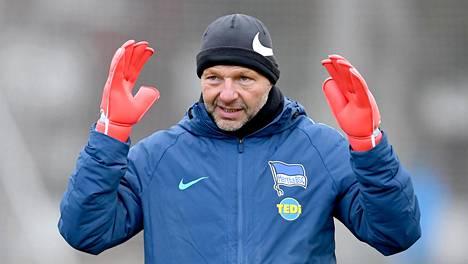 Zsolt Petry Herthan harjoituksissa talvella 2019.