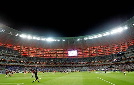 Bakun olympiastadionilla pelattiin viime keväänä Euroopan liigan loppuottelu.
