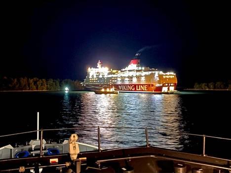 Viking Linen Amorella-alus tärähti karille Ahvenanmaalla 20. syyskuuta.