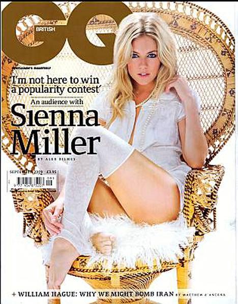 Sienna Miller poseeraa tuoreen Britannian GQ-lehden kannessa.