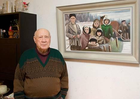 Esko Petrow kuvattuna kotonaan vuonna 2009.