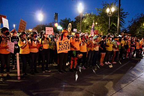 Mielenosoitukset jatkuvat Portlandissa.