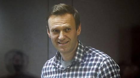 Aleksei Navalnyi oikeudessa helmikuussa.