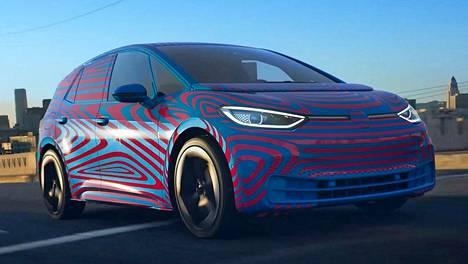 Volkswagen ei näyttänyt vielä uutuuttaan, mutta tältä uusi VW:n sähköauto näyttänee.