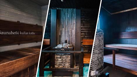 Sauna from Finland valitsi Tuusulan asuntomessujen elämyksellisimmät saunat. Vasemmalla kohde Talo Keudan sauna, keskellä Villa Mikaelin sauna ja oikealla Paritalo Veljestecon sauna.