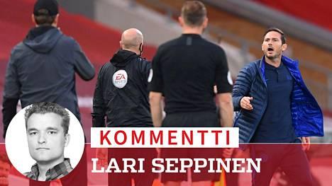 Frank Lampardilla (oik.) oli asiaa Jürgen Kloppille (vas.)
