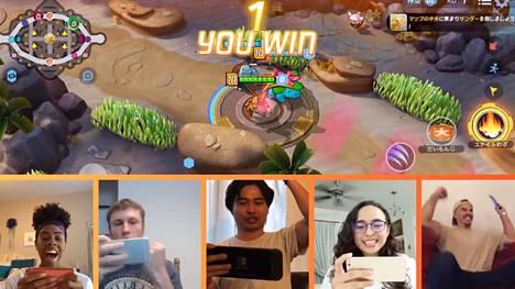 Pokémon Unitessa pelataan viiden hengen joukkueina. Kuvakaappaus trailerista.