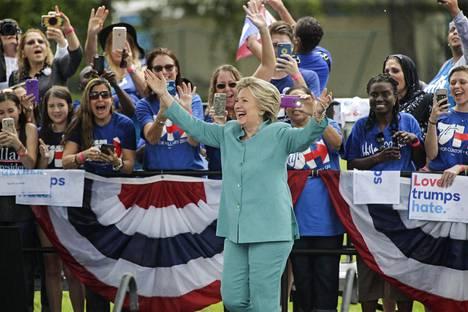 Ilta-Sanomat oli paikalla Hillary Clintonin vaalitilaisuudessa Floridan Pembroke Pinesissa marraskuun viidentenä päivänä.