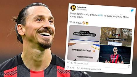 Zlatan Ibrahimovic oli anteliaalla päällä.